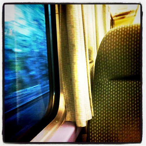 Early morning in a train.