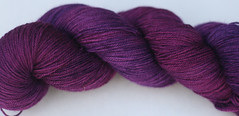 Crushed Grapes on SW BFL Sock by BigBadVooDoo Mama