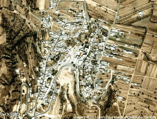 Vista aérea del poblado San Miguel del Milagro