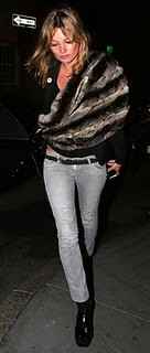 Kate Moss fur stole