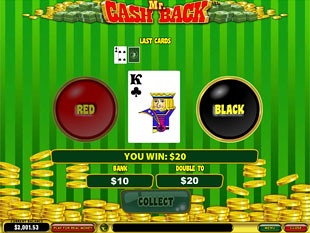 free Mr. Cashback slot gamble feature