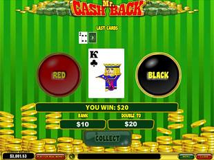 free Mr. Cashback slot gamble feature