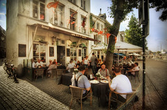 A nice sunday afternoon in Maastricht (Werner Kunz) Tags: world city trip travel vacation holiday holland love netherlands dutch maastricht town cafe nikon europa europe wideangle romantic dining hdr niederlande explored nikond90