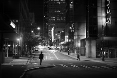Under the SAM (sparth) Tags: seattle leica silhouette night walking lights downtown nightshot sam perspective september seattleartmuseum downtownseattle m9 2011 leicam9