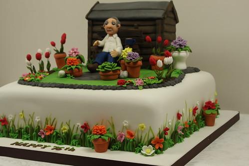 garden cake side detail