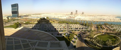 View from my hotel balcony in Doha