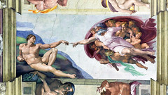 Cappella Sistina (2) (MaOrI1563) Tags: italy rome roma italia vaticano michelangelo colori papi rinascimento michelangelobuonarroti storia cappellasistina adamo pitture cittàdelvaticano creazionediadamo