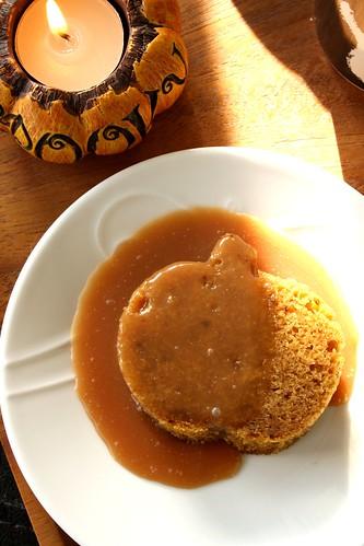 Bobby Flay's Pumpkin Bread with Spicy Caramel Apple Sauce