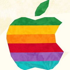 original apple logo sample quilt block