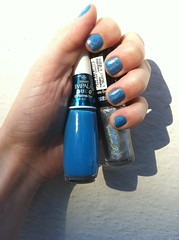 Polaina Fun - Impala (Coleo Disco) - Hefesto - Hits (Coleo No Olimpo) (Fe Croft) Tags: blue woman art colors girl azul cores flickr colours hand nail polish nails hits fe impala unhas unha fefa esmaltes hefesto esmalte twitter fecroft artnail hologrfico polainafun