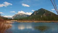 Vermillion Lakes, Alberta, Canada (KerryElaine) Tags: blue sky mountain canada water nationalpark alberta banff mountrundle vermillionlakes