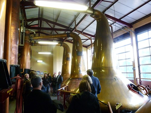 Wash and Spirit Stills at Aberfeldy Distillery