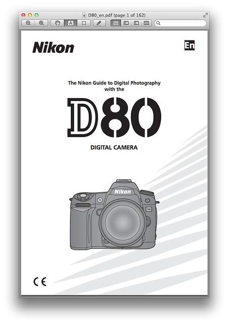 Nikon D80 Manual -- Printable