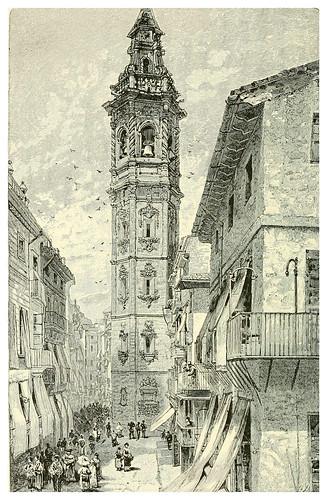 012-Iglesia de Santa Catalina en Valencia-Spanish vistas-1883- George Parsons Lathrop
