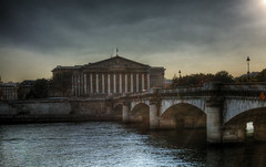 Assemble Nationale at sunset (_ Reboot  __) Tags: bridge sunset seine river hdr 75paris worldwidephotowalk2011
