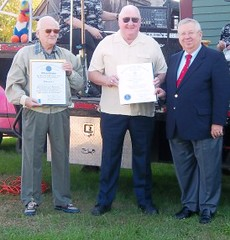 Sen. Moore joins Mendon Lions to honor Kelley and Lizotte