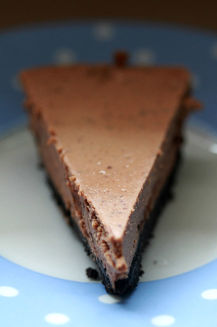 Easy Lazy Chocolate Cheesecake with Oreo Crust