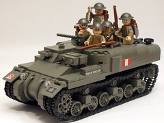 "Canadian Ram Kangaroo APC & infantry (with finalized new front slope). (""Rumrunner"") Tags: world 2 infantry army war lego brodie wwii helmet canadian 2nd ii kangaroo ww2 ww apc ram carrier worldwar2 brigade allies personnel armoured brickarms m1919"