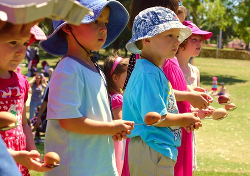 egg and spoon race by shingleback, on Flickr