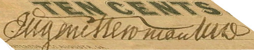 Skewed Eugene Newman signature