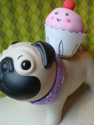 Cupcake riding a pug!