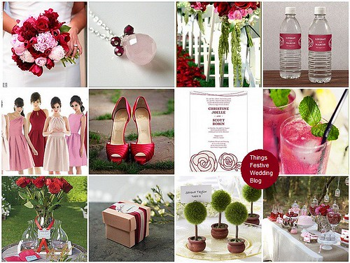Pink and red Wedding Image credits resources