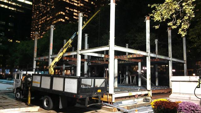 Celsius restaurant under construction at Bryant Park