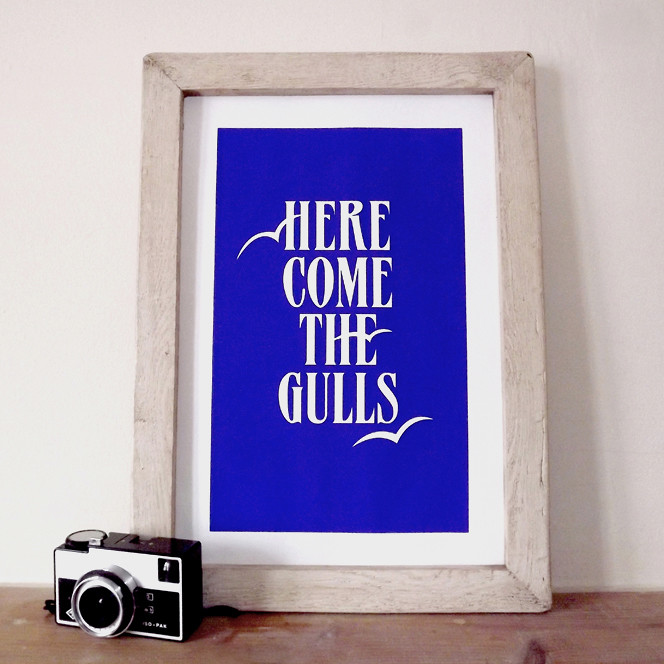 Here Come The Gulls - Framed
