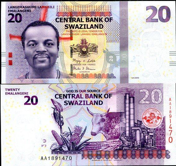 20 Emalageni Swazijsko 2010
