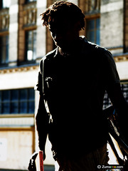 Isola Di Vita (zumanto) Tags: blue portrait sculpture sunlight black sexy men green art dreadlocks pose beard rising amazing cool model truth paint downtown artist shadows darkness bright outdoor character sunday models handsome hunk canvas master hero strong omaha tall dreads shining blackmen hunks sunnyday oldmarket courage handsomemen theone sexymen thebold sexybabes shininglight standstrong zumanto