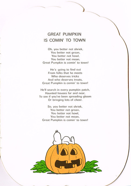 Great Pumpkin is Comin' to Town