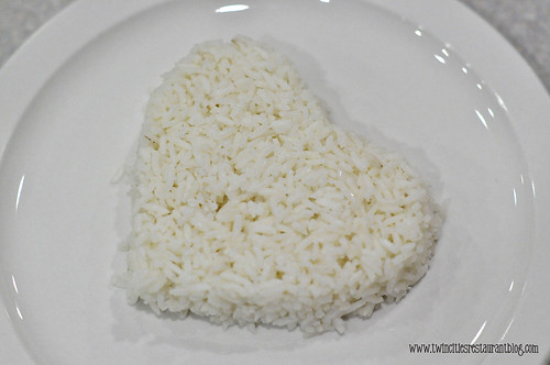 Heart-Shaped Rice at Sam Thai Cuisine ~ White Bear Lake, MN