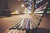 it's getting dark outside (In Memory Lane~) Tags: london night 35mm bench dof bokeh mark ii 5d 35l