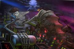 Jack was in the box (Fat Heat .hu) Tags: canvas jackinthebox acrylics coloredeffects fatheat urbantactics