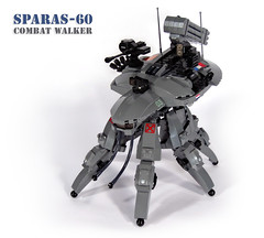 SPARAS-60 Combat Walker (Red Spacecat) Tags: spider tank lego military gits walker combat moc multiped sparas foitsop afolcon redspacecat