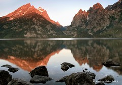 Jenny Lake, Grand Teton National Park (Andrew Behr) Tags: nature sunrise reflections rockies landscapes rockymountains wyoming grandteton continentaldivide jennylake cascadecanyon gtnp
