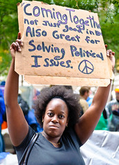 Occupy Wall Street - Solving political issues! (Chris Bertram) Tags: usa ny newyork nikon unitedstates manhattan unitedstatesofamerica lowermanhattan d90 zuccottipark occupiedwallstreetjournal occupywallstreetoccupyows