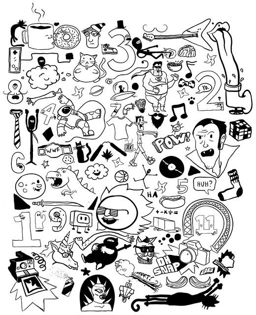 Doodlefest '11 - B&W