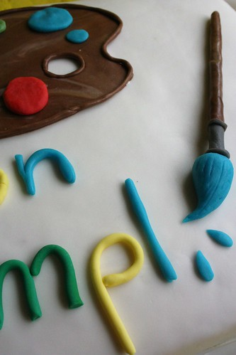 torta per una giovane artista -particolare
