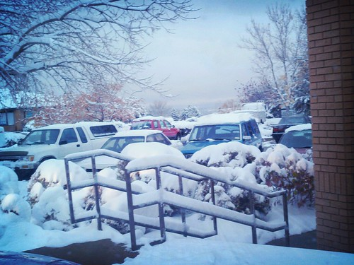 Parking Lot. Snow. by bradleygee