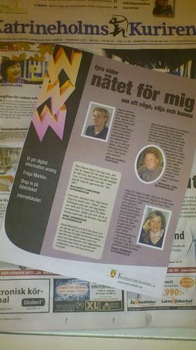 """Gilla """"Nätet för mig - om att våga, vilja och kunna"""" och gör din egen tidning på http://natet.katrineholm.me by Kommunchef"""