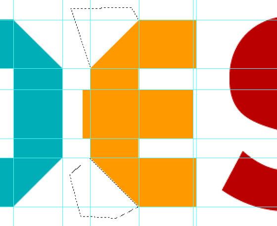 tipografía de papel hecha con photoshop