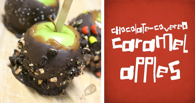 Chocolate-covered caramel apples