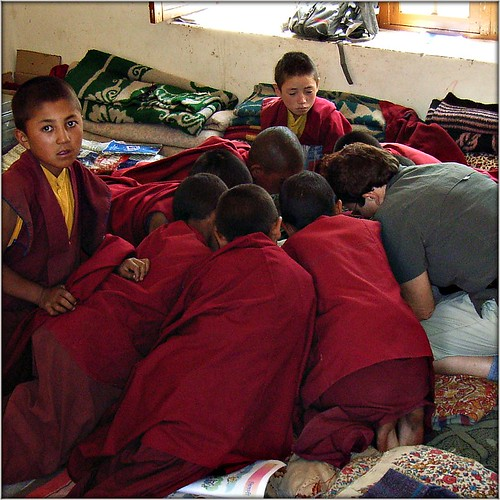 Me teaching little monks in Ladakh by Ginas Pics