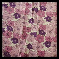 Vintage Sheet: purple goodness