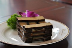 doufu stack (Ian Riley) Tags: china food asia tofu chinese stack beancurd shanxi smoked doufu taigu