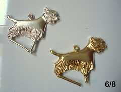 Westie terrier pendant (6/8) - lost wax