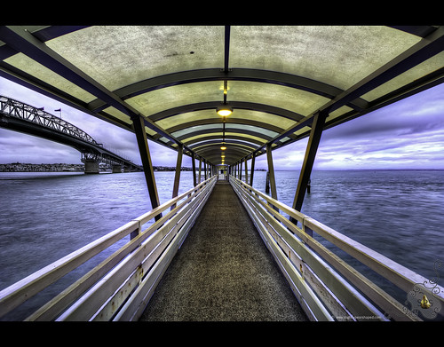 Pier into bad weather