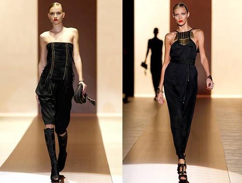 Gucci-Primavera-Verano-2011-mono-negro-Anja Rubik