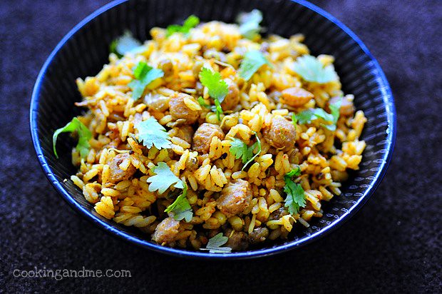 Soya Chunks Biryani | Soya Chunks (Meal Maker) Biryani Recipe